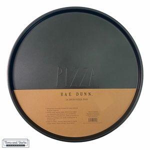"Rae Dunn PIZZA 14"" Pizza Pan in Black"